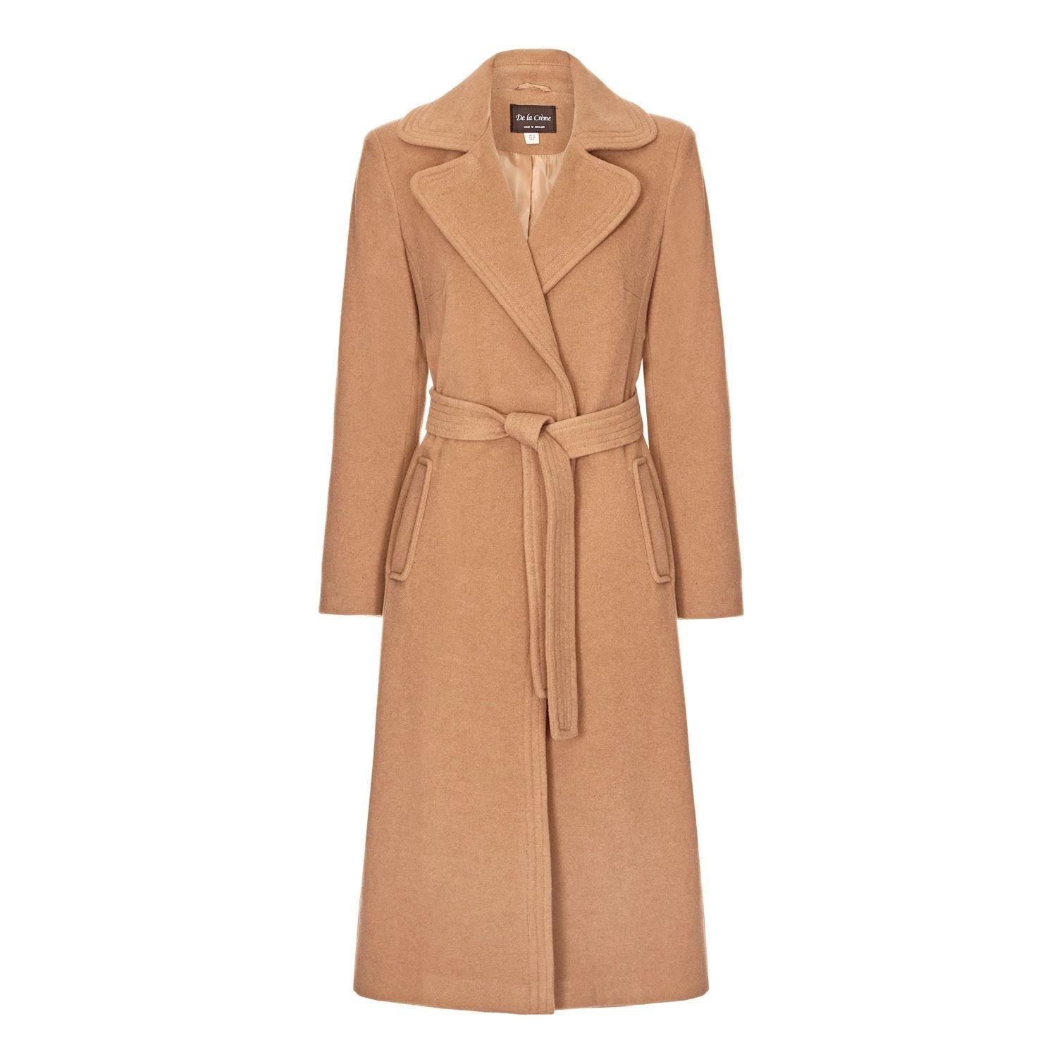 Anastasia Womens Wool Cashmere Winter Belted Wrap Coat