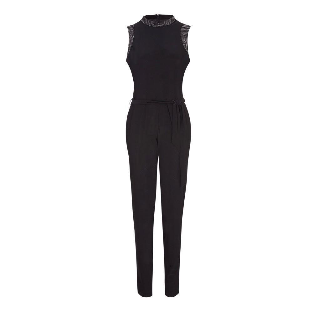 EX Wallis - Black Embellished Jump Suit