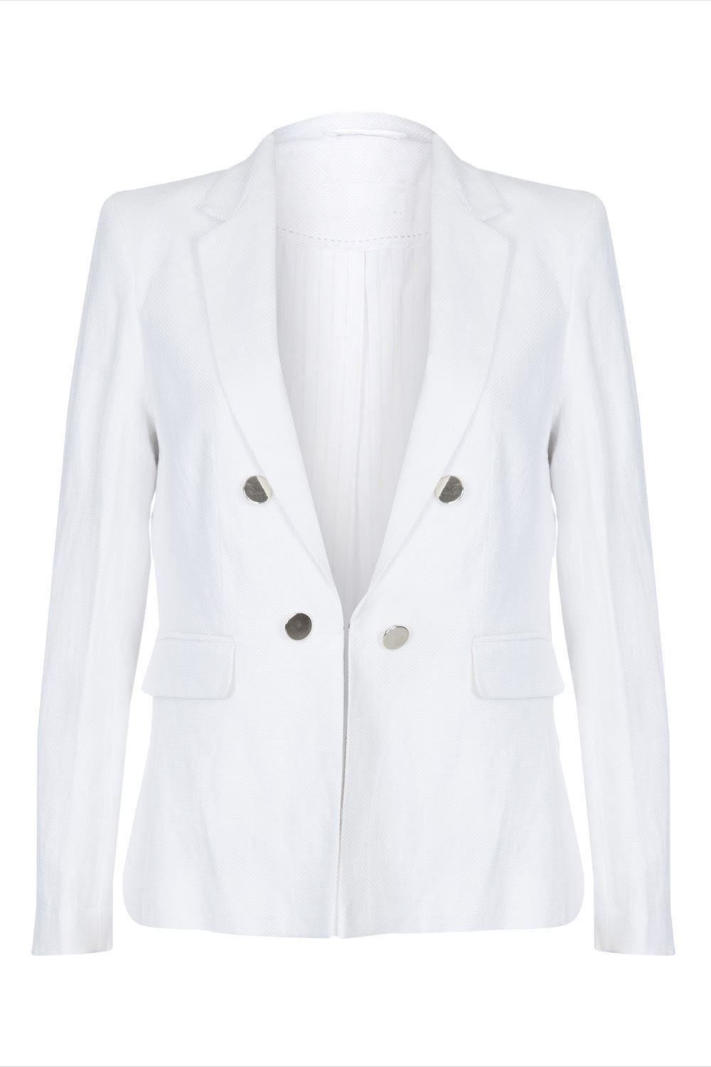 Anastasia Cream  Linen Summer Blazer Jacket