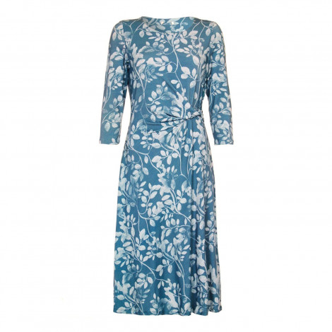 EX Marks and Spencer -Green Draped Lined Jersey Dress