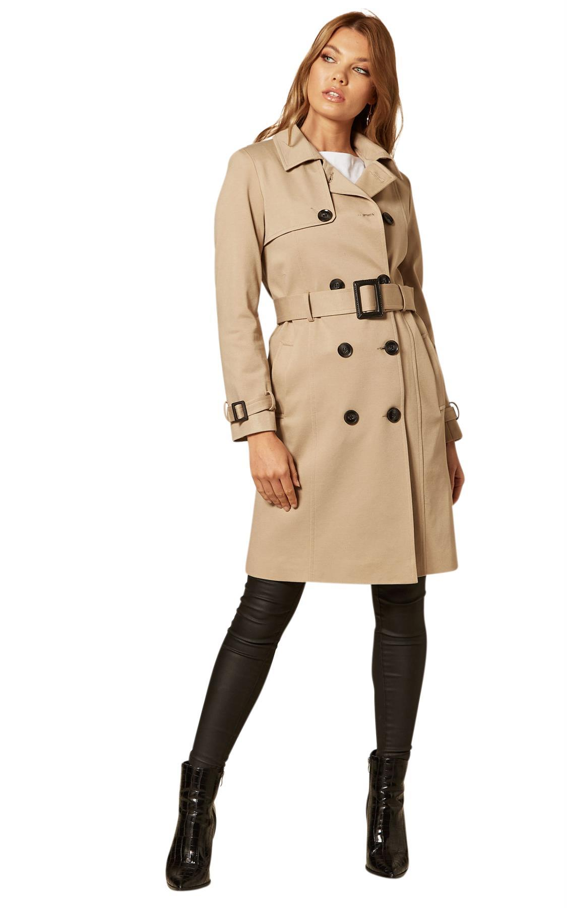 De La Creme - Women's Double Breasted Trench Coat