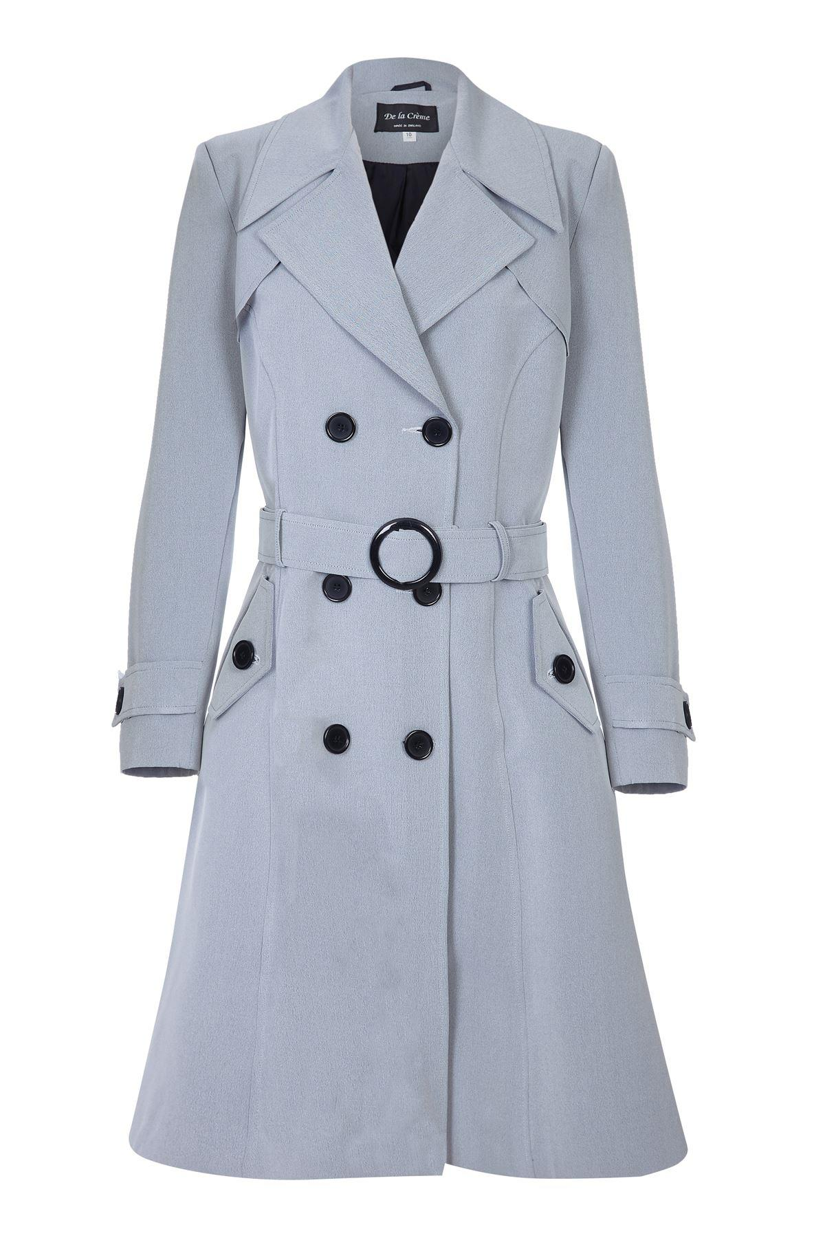 De La Creme- Women's Spring Belted Trench Coat
