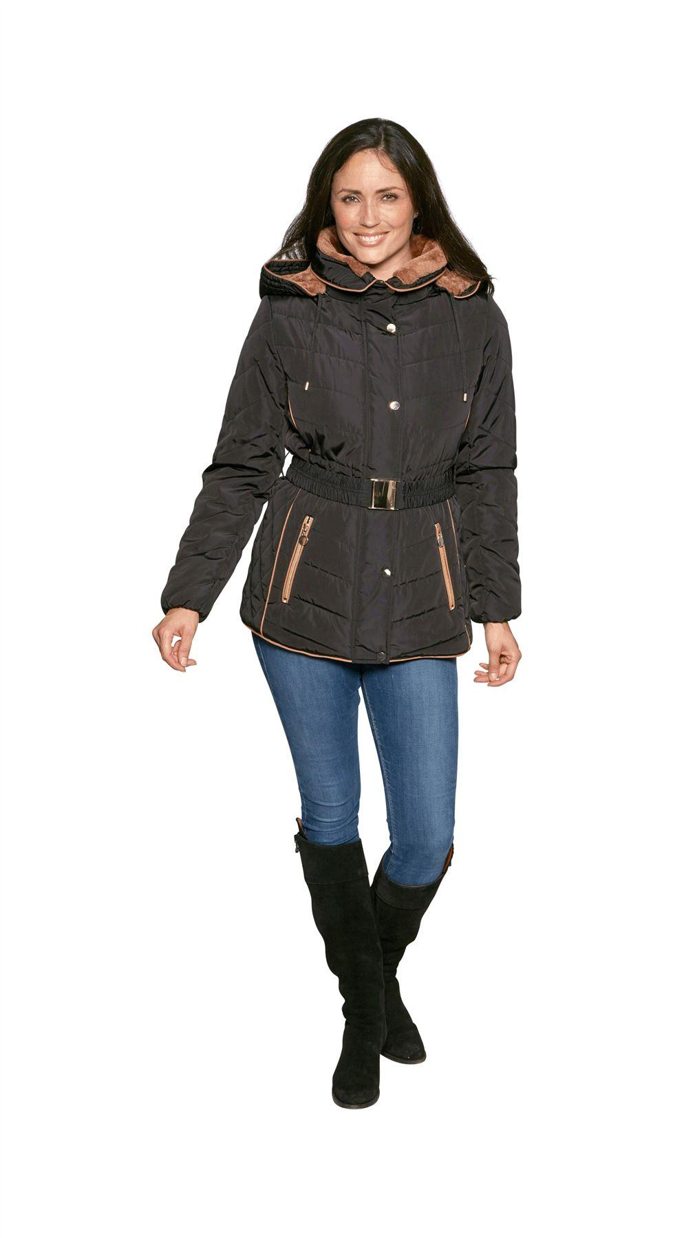 David Barry Padded Short Parka With Adjustable Belt