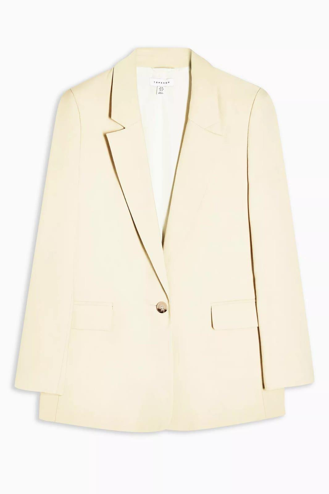 Ex Top Shop Womens Single Breasted One Button Blazer