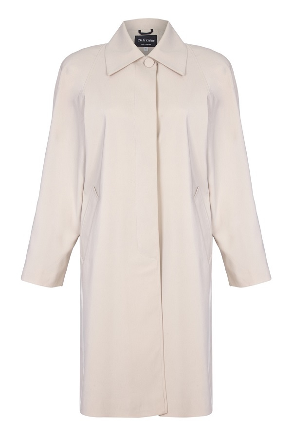 De La Creme - Women`s Spring Long Fly Front Raincoat