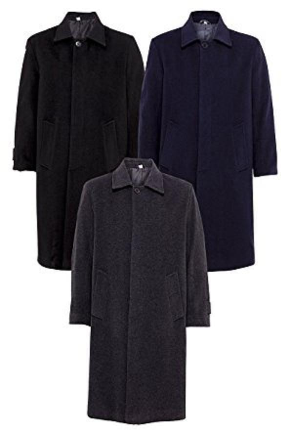 De La Creme- Men's Wool and Cashmere Long Winter Coat