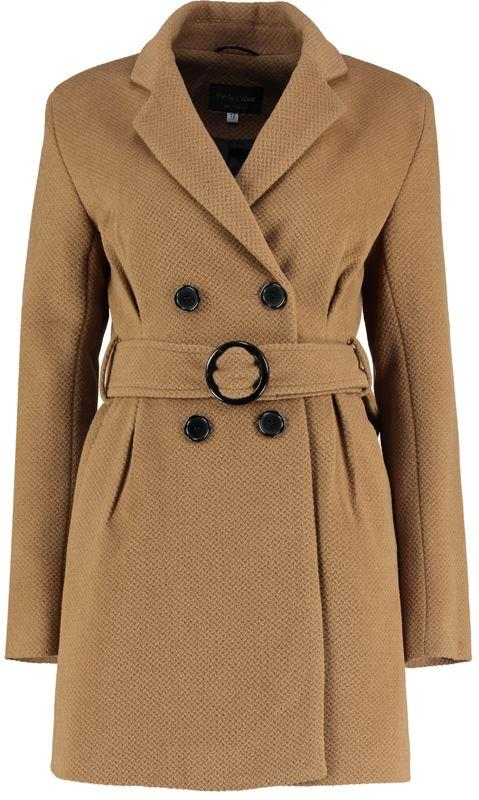 De La Creme- Camel Tweed Womens Winter Belted Jacket
