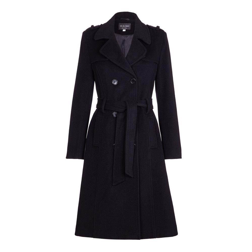 Anastasia - Womens Wool & Cashmere Belted Long Military Trench Coat