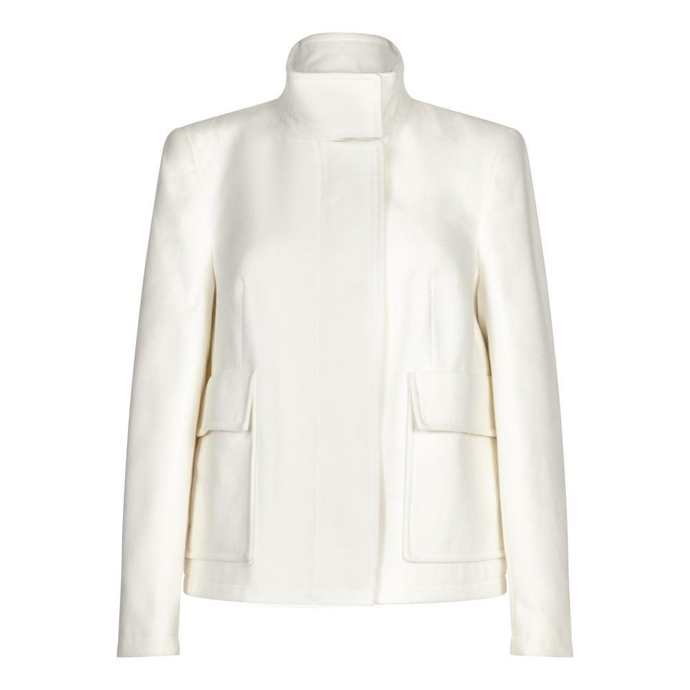 Anastasia-Womens Cream Short Winter Jacket