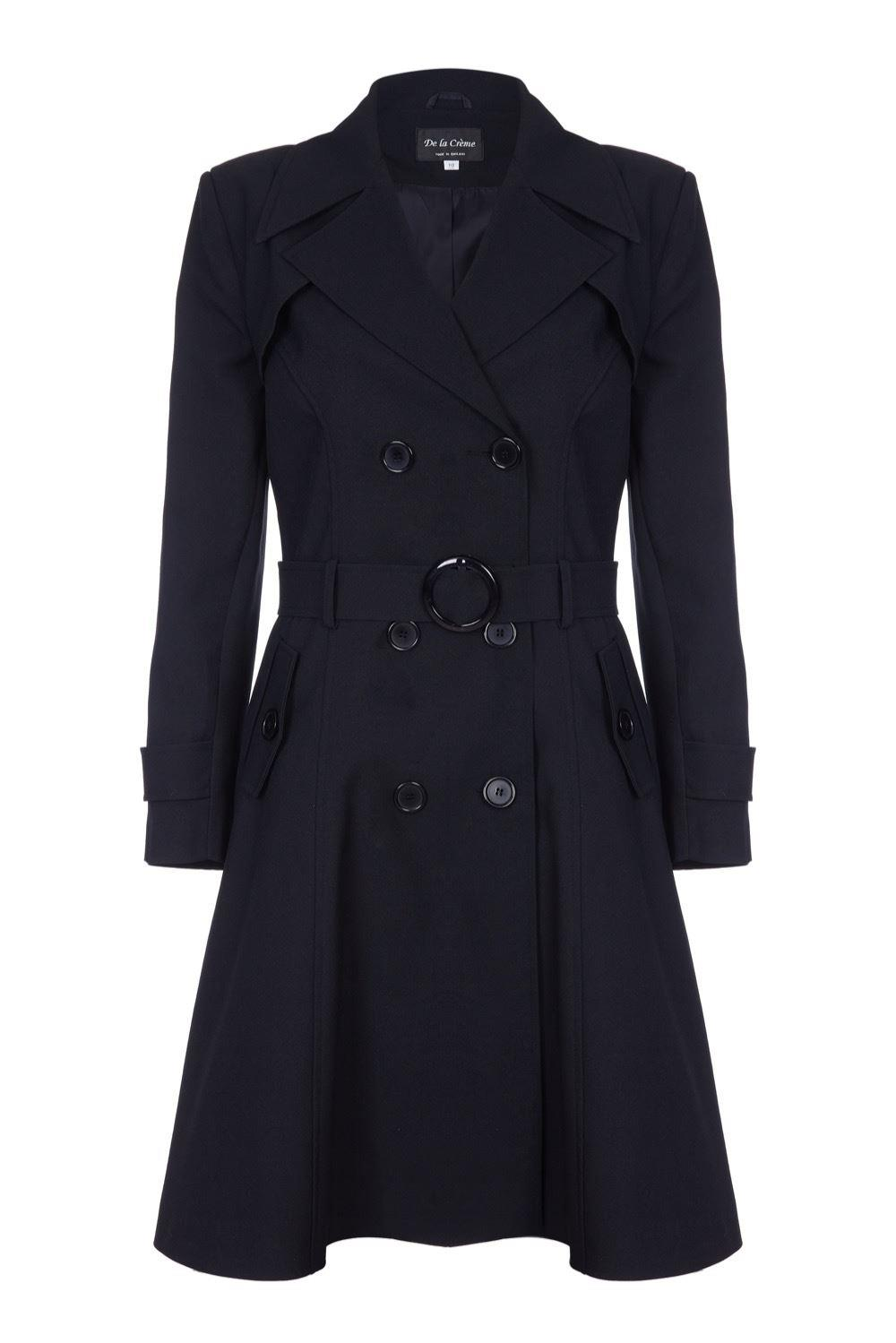 DE La Creme  - Women's Spring Belted Trench Coat