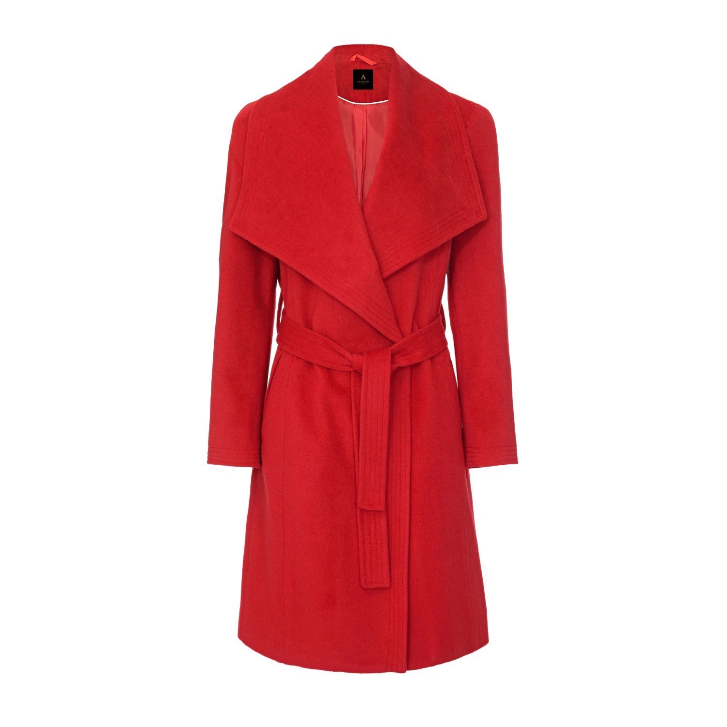 Anastasia Womens Winter Belted Wrap Coat
