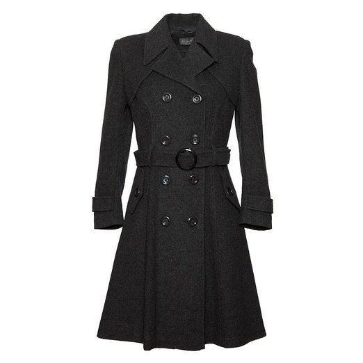 De La Creme - GREY Womens Wool & Cashmere Winter Long Belted Coat