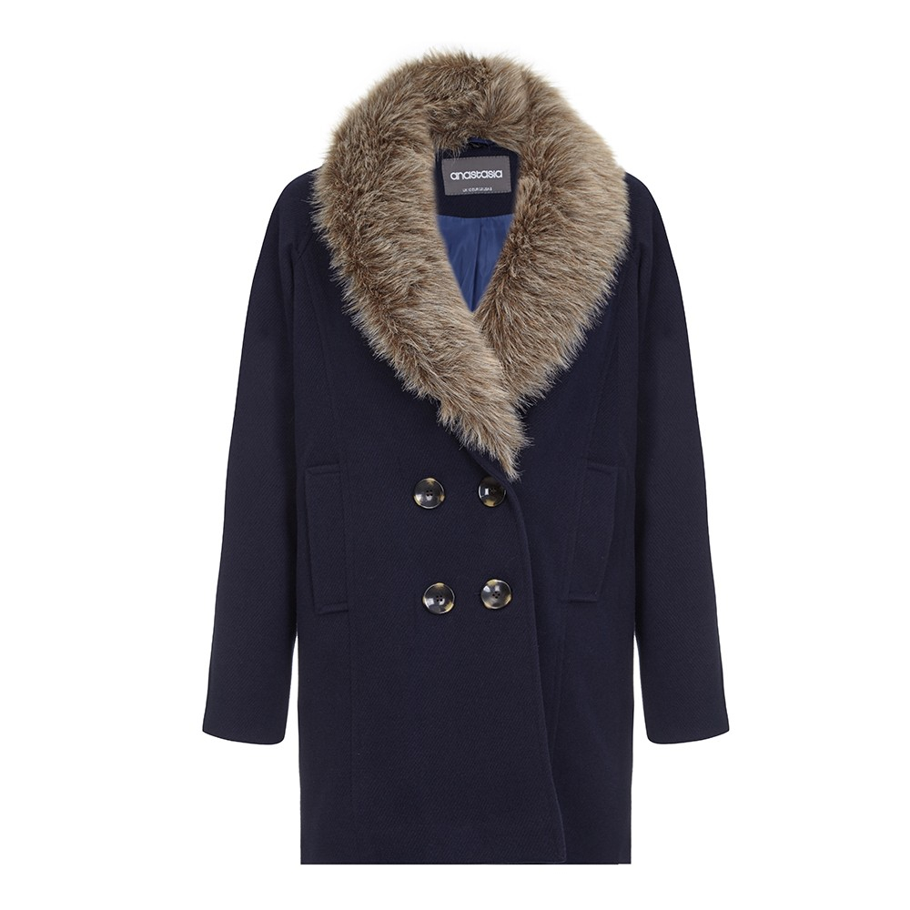 Anastasia - Fur Collar Winter Coat