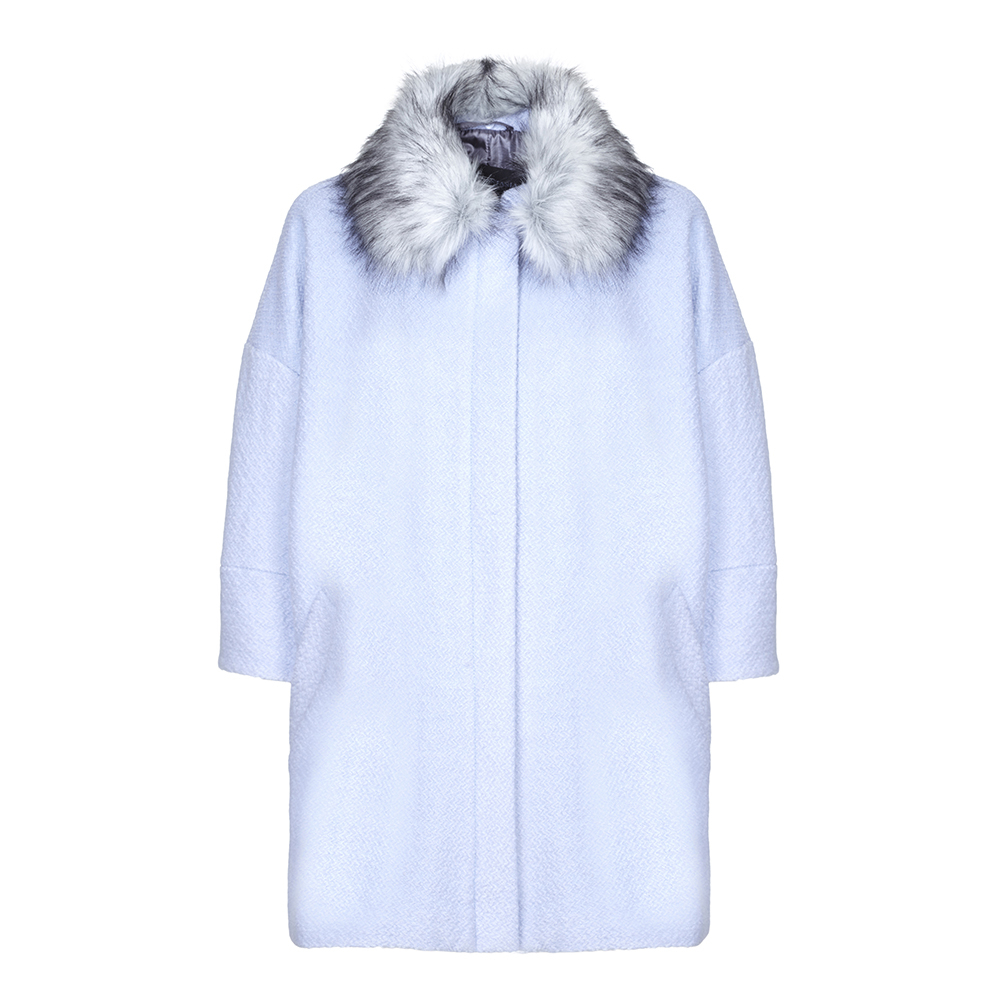 Anastasia - Women's Blue Snow Queen Wool Winter Coat