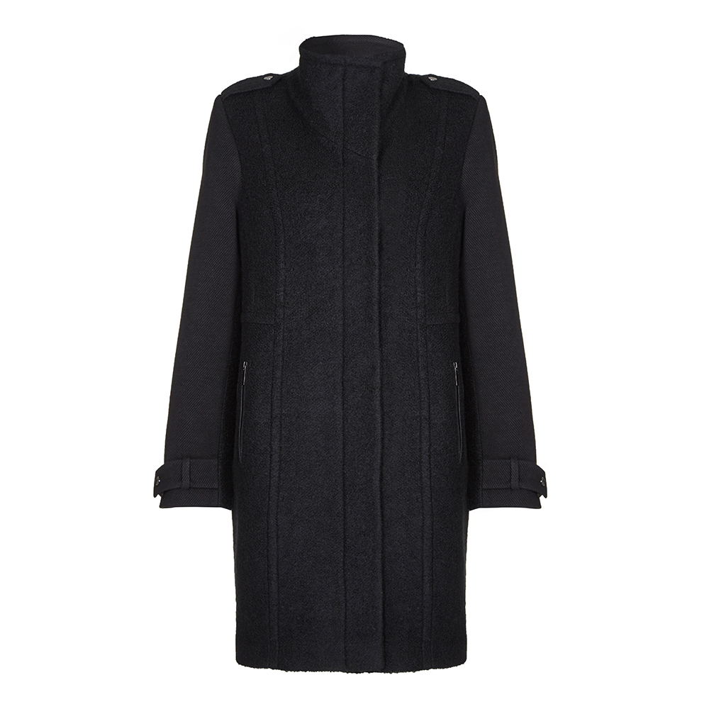 Anastasia - Black Women's Wool Winter Coat