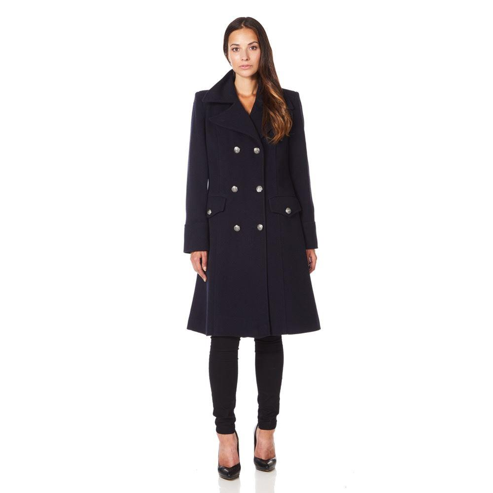 Anastasia - Women`s Military Cashmere Wool Winter Coat