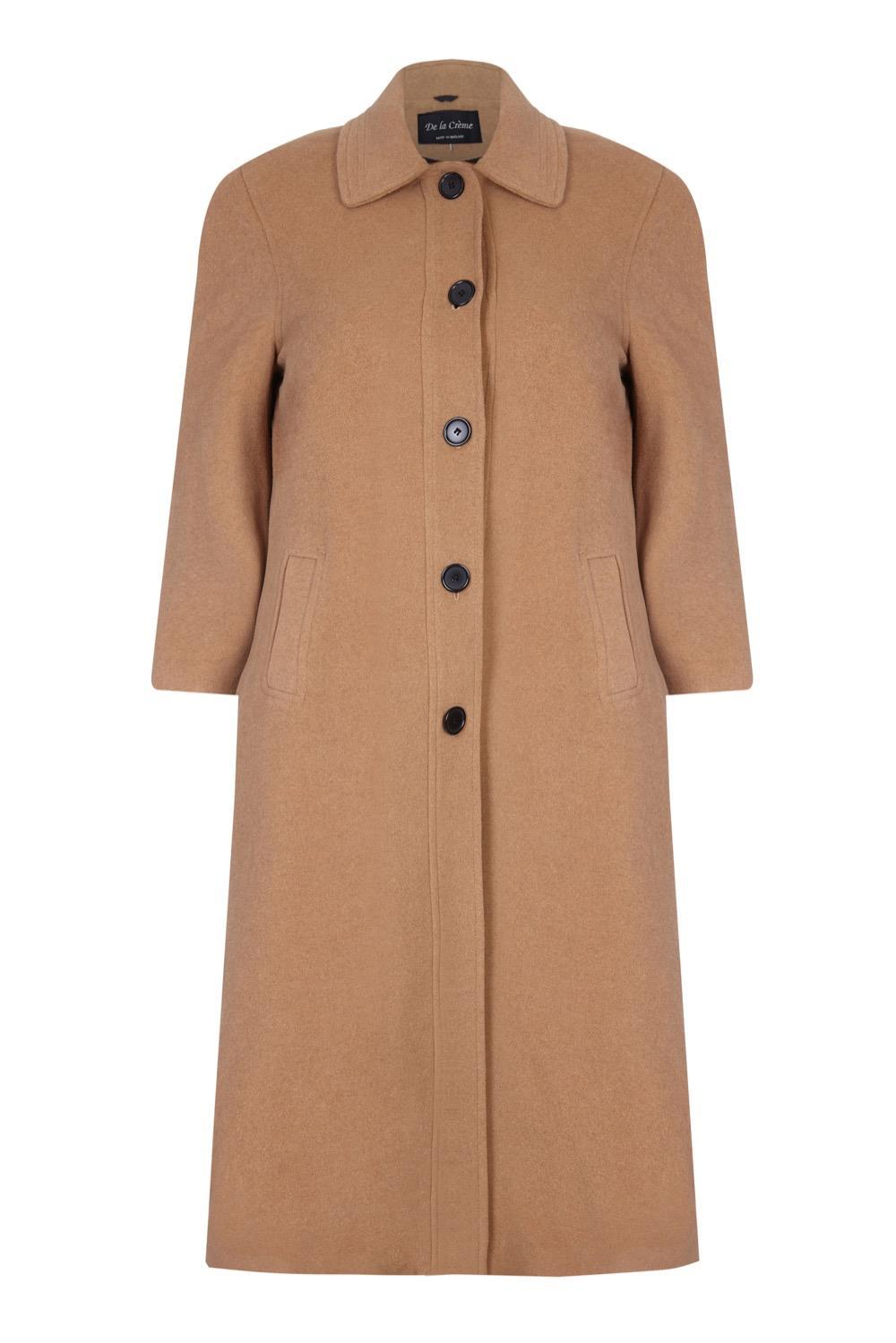 Anastasia - Womens Winter Single Breasted Wool and Cashmere Blend Long Coat