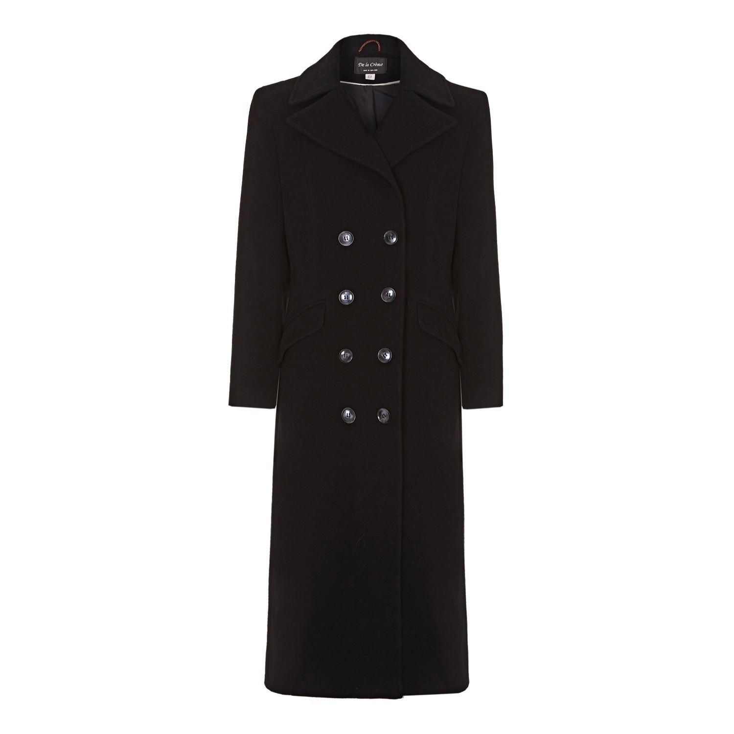 RED Womens Double Breasted Cashmere Coat