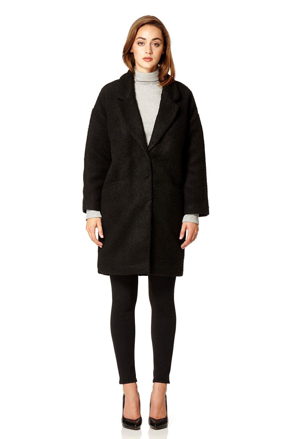 Spice - Womens Faux Mohair Oversized Winter Coat