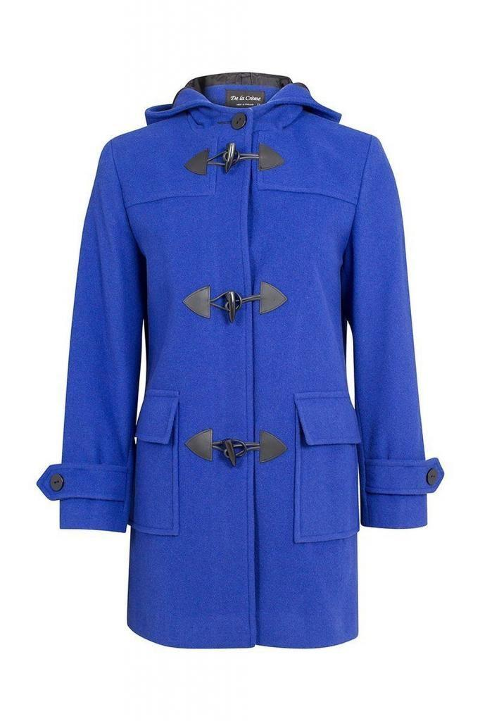 De La Creme - Women's Wool & Cashmere Winter Hooded Duffle Coat