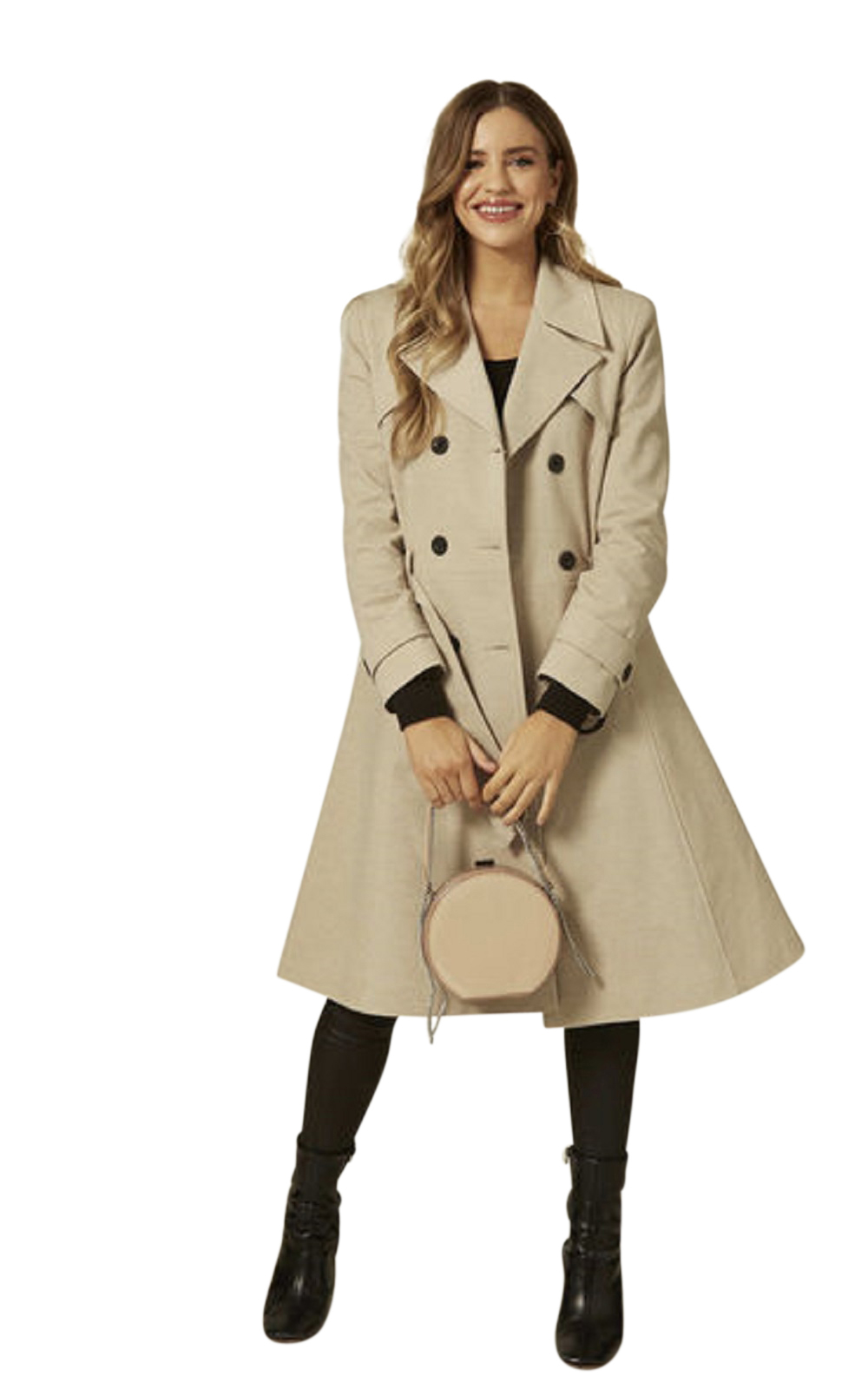 Anastasia Womens Showwer Proof Belted TrenchCoat