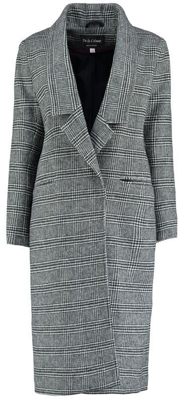 Anastasia - Black Prince Wales Check Womens Winter Wool Long Coat