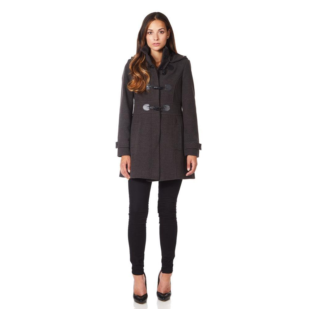 Anastasia -  Wool Cashmere Womens Hooded Zip Fastening Winter Coat