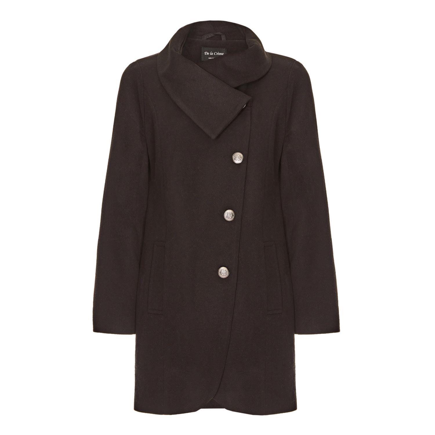 De La Creme Womens Winter Asymetric Coat