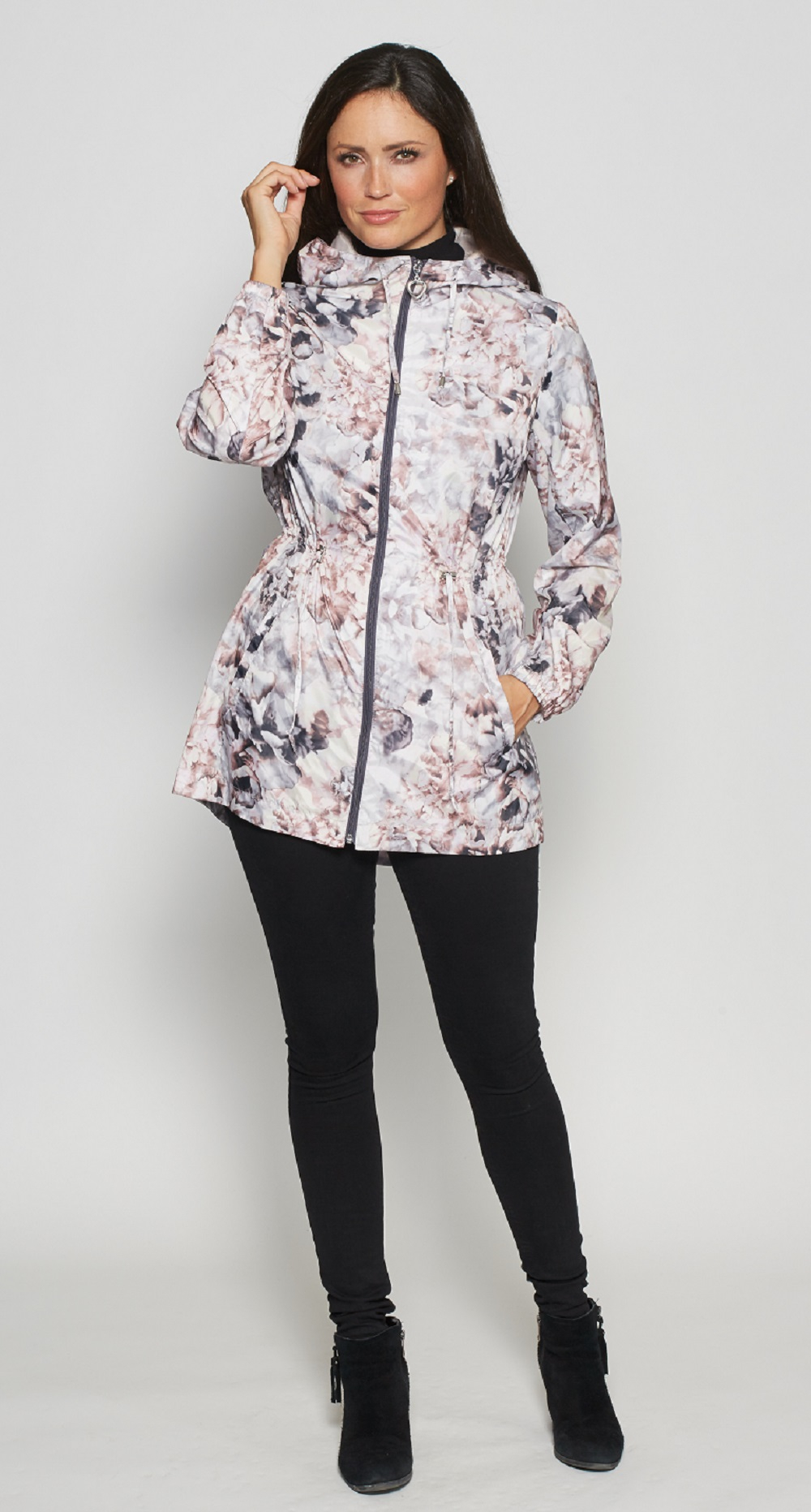 David Barry - Womens Lightweight Print Travel Jacket