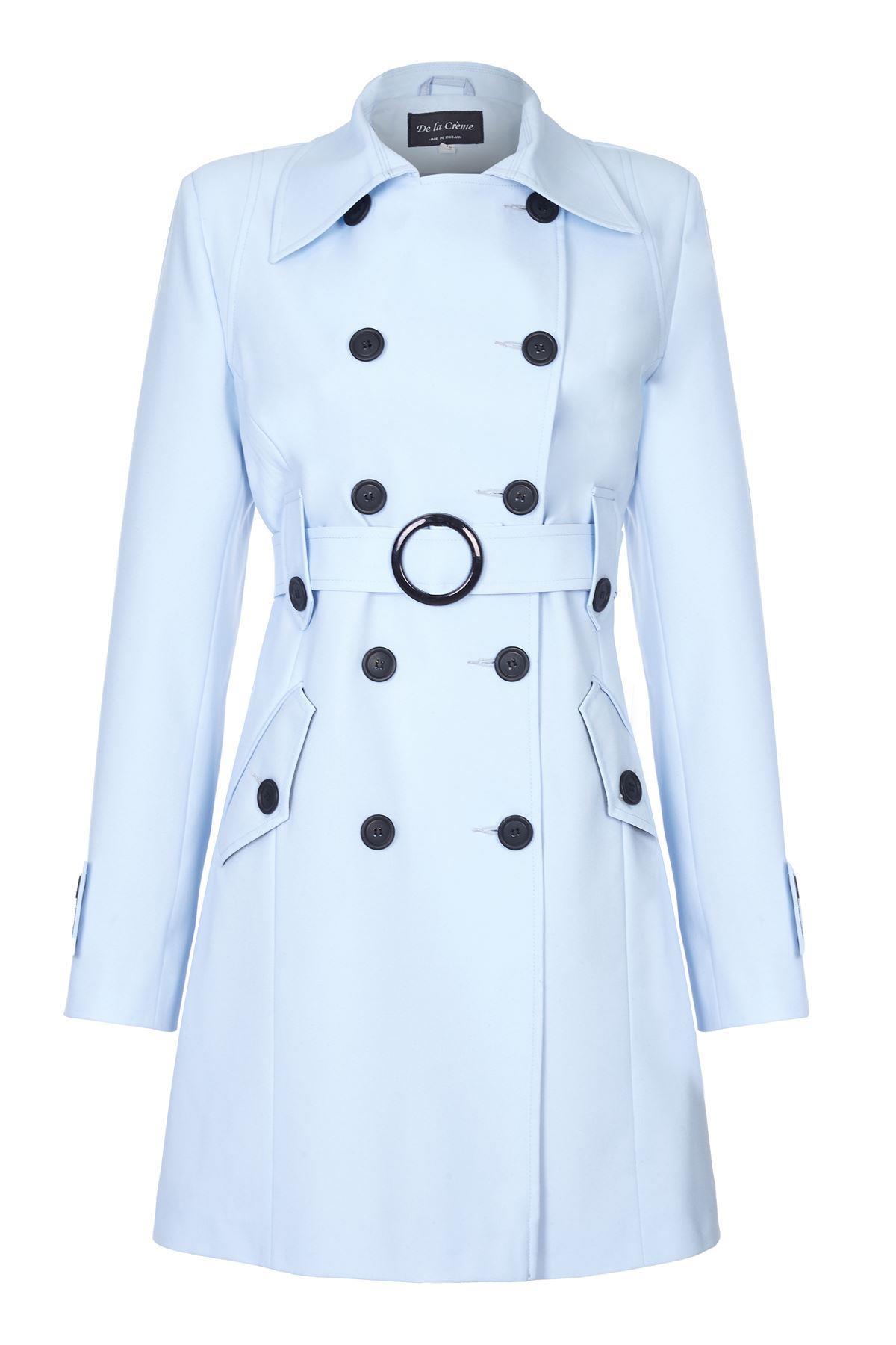 De La Creme - Women`s Spring Belted Trench Coat