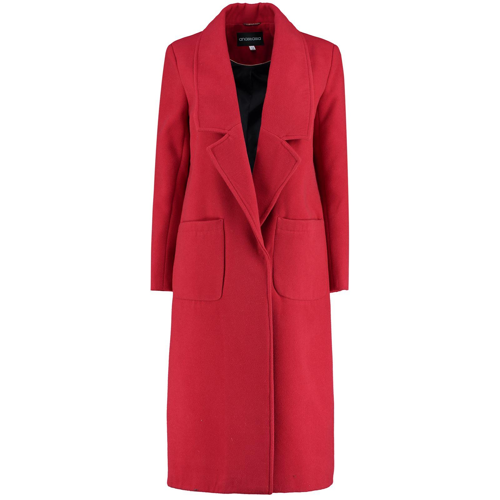 Anastasia - Womens Winter Faux Wool Long Coat