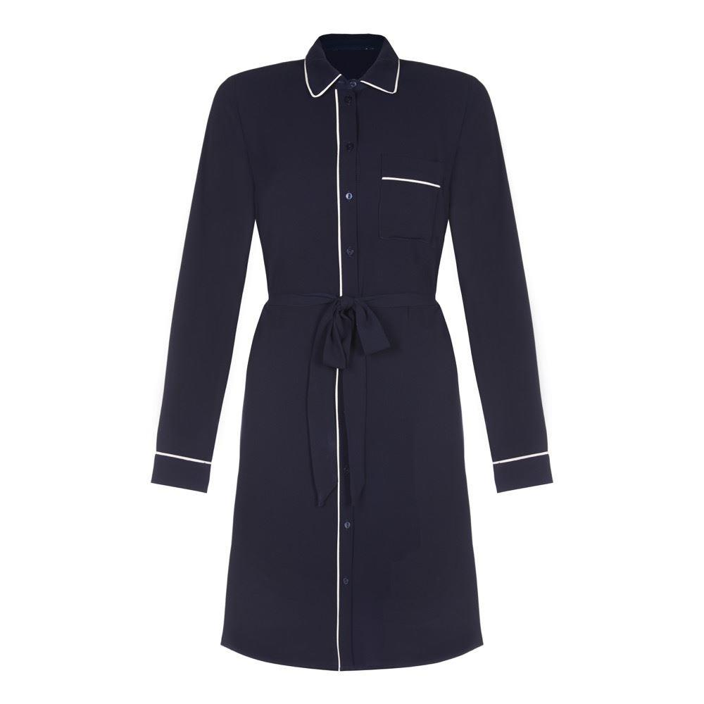 Ex Dorothy Perkins - Women's Piped Shirt Dress
