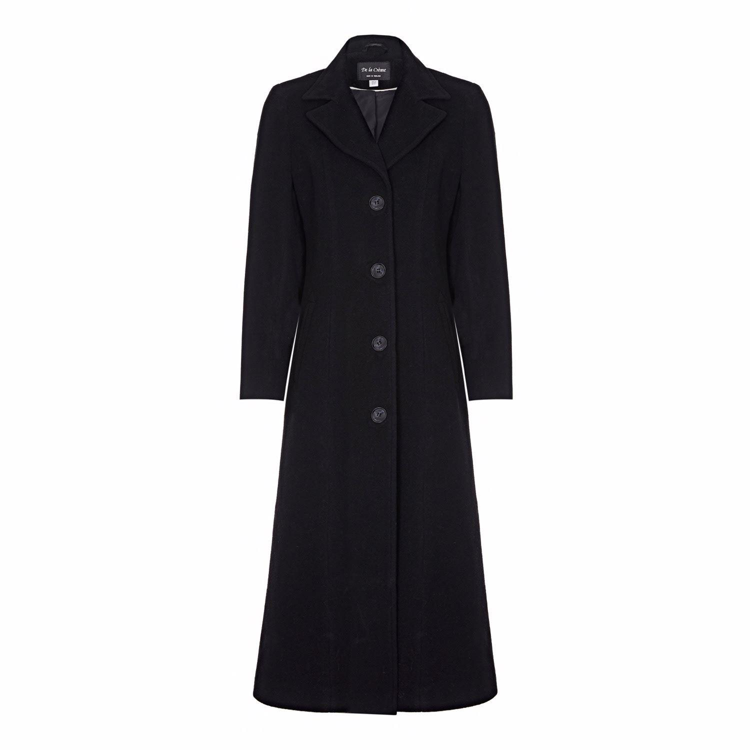 De La Creme Womens Wool Cashmere Long Winter Coat