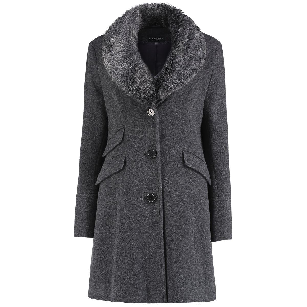 Anastasia Womens Fitted Winter Coat