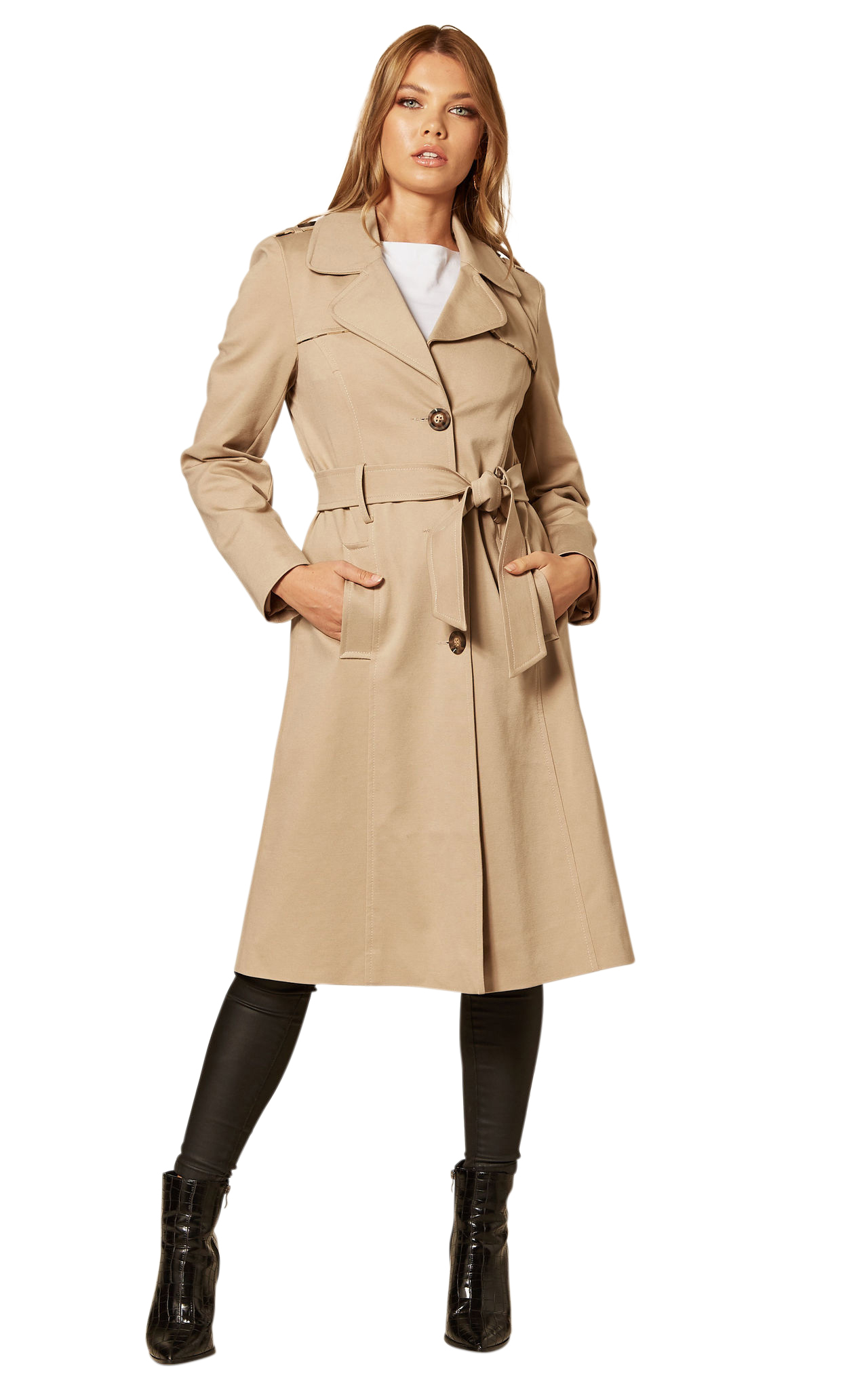 De La Creme - Women's Belted Trench Coat Raincoat