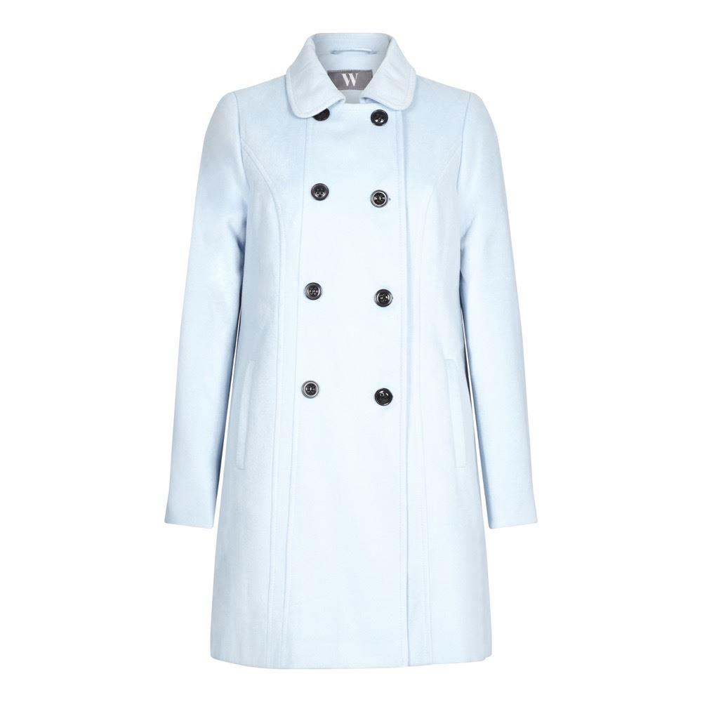 BHS Womens Blue buttoned Winter Coat