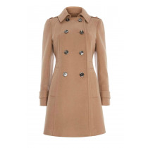 Anastasia - Womens Military Buttoned Winter Coat