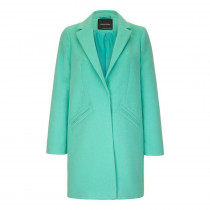 Women's Green Wool Slim Crombie Winter Coat