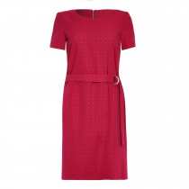 Ex Next Red Short Sleeve Belted Dress