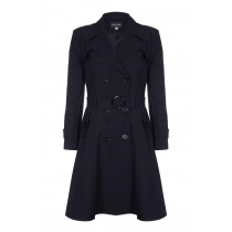 De La Creme - Womens Spring Belted Trench Coat