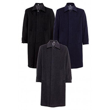 De La Creme - Men's Wool and Cashmere Long Winter Coat
