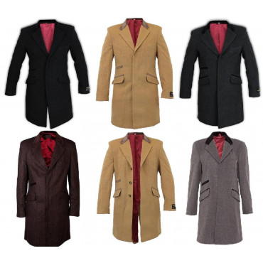 De La Creme - Men's Wool and Cashmere Winter Coat