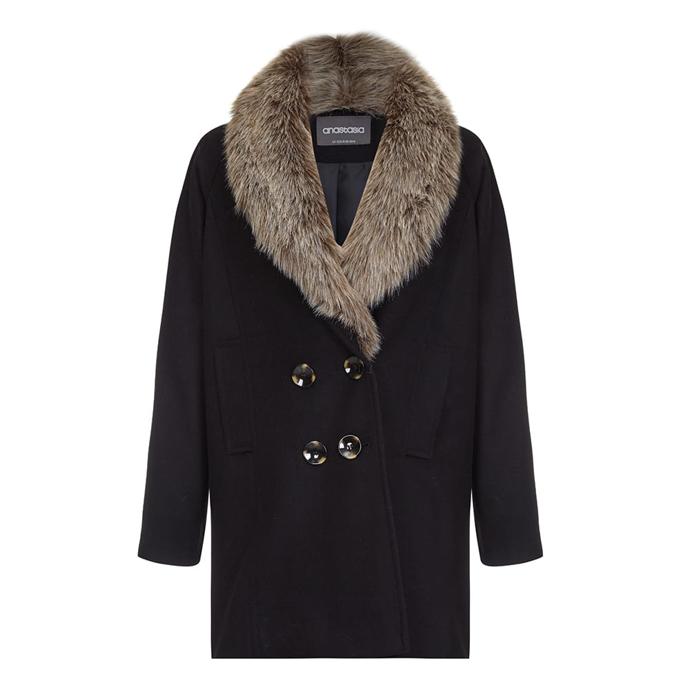 Anastasia - Women's Fur Collar Winter Coat
