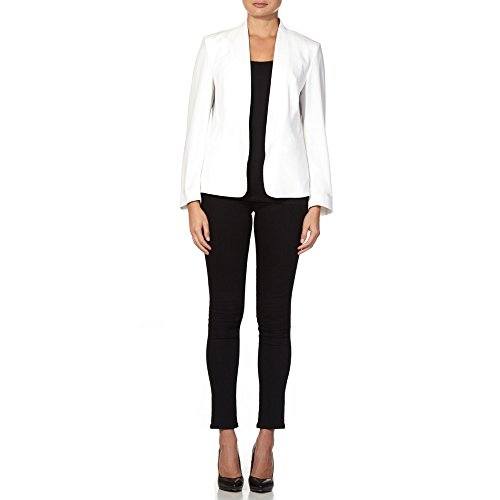 Anastasia - White Women`s Unlined Tailored Jacket Blazer