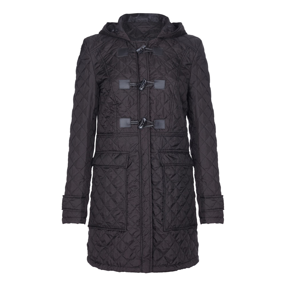Anastasia-Womens Winter Hooded Padded Parka Duffle Coat